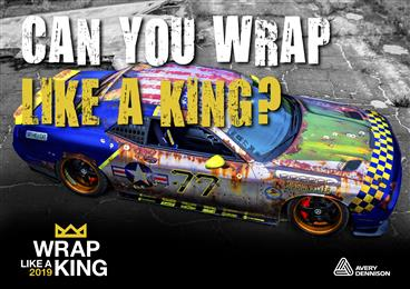 """Avery Dennison® """"Wrap Like A King"""" 2019 challenge opens for vehicle wrap submissions"""
