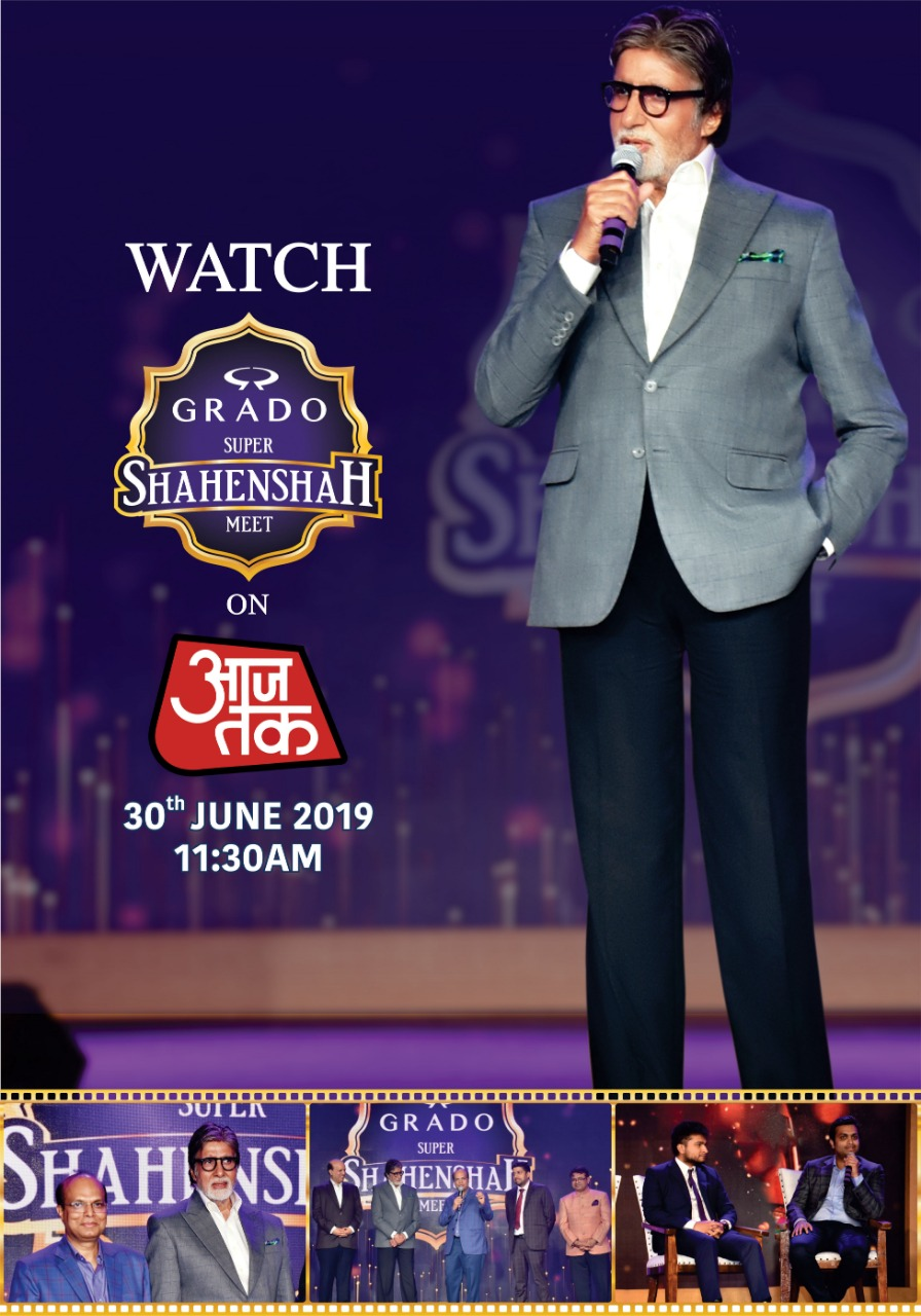 GRADO SUPER SHAHENSHAH MEET'- For the first time on Indian Television, The Shahenshah of Bollywood Mr. Amitabh Bachchan meets the Shahenshahs of Fabric
