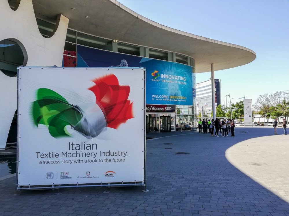 ITMA 2019: RESOUNDING SUCCESS FOR ITALIAN TEXTILE MACHINERY MANUFACTURERS IN BARCELONA