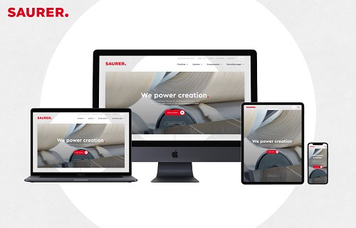 Saurer's new website: clear, intuitive and responsive