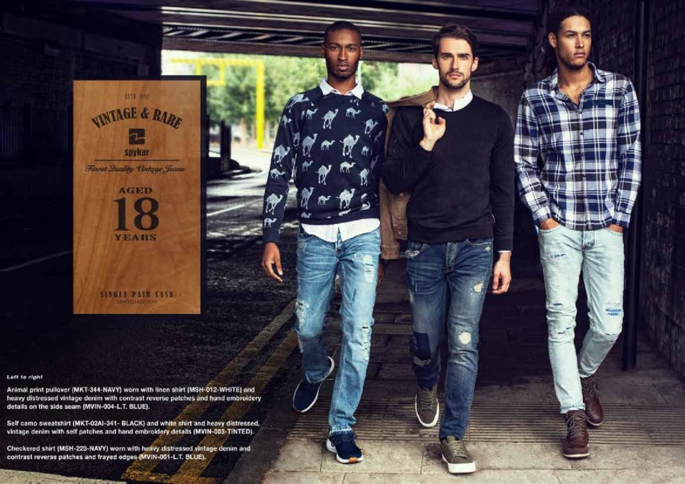 """Spykar launches18 year Aged Jeans""""Vintage & Rare""""."""