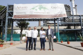 GAP INC. AND ARVIND LIMITED UNVEIL NEW TREATMENT FACILITY TO ADDRESS WATER WASTE IN APPAREL MANUFACTURING