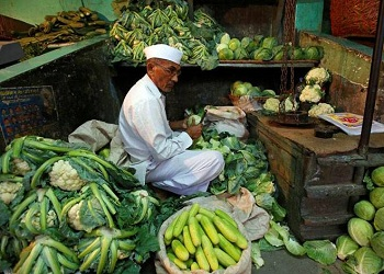 Retail inflation jumps on soaring food prices.