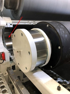 New design enhances safety and reduces changeover time on PCMC's Omnia embosser-laminator