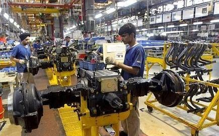 Factory output contracts 4.3 per cent in September to 7-year low.