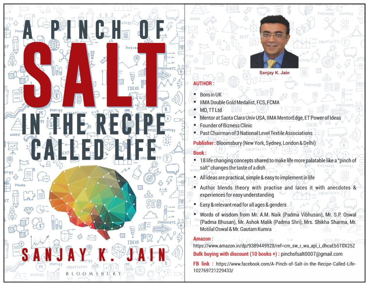 Pinch of Salt in the Recipe Called Life