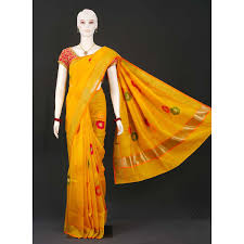 Hand woven sarees steal the show at London Fashion Week.