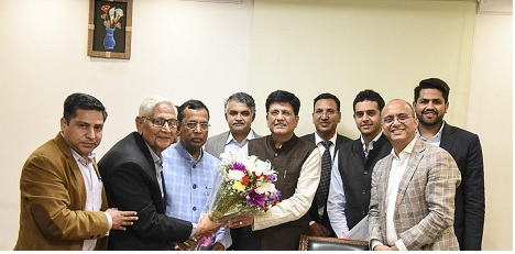 Joint delegation of LSA and NITMA members met Sh. Som Parkash Minister of State of Commerce & Industry and Shri Piyush Goyal, Union Minister of Commerce and Industry on March 2nd 2020 to discuss the concerns of Textile Spinning Industry.