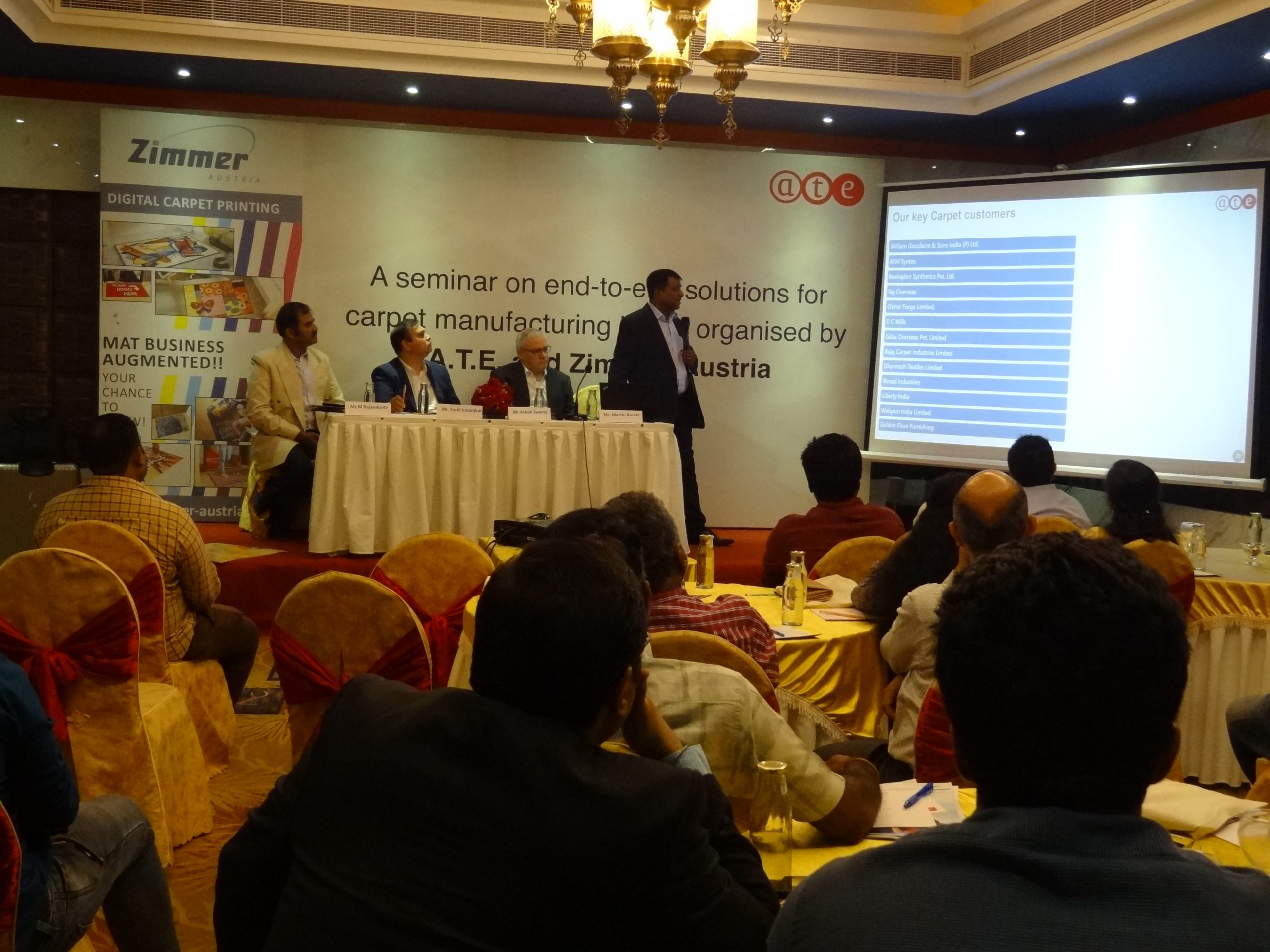 A.T.E. conducts seminar on 'End-to-end solutions for carpet manufacturing' at Alleppey, Kerala