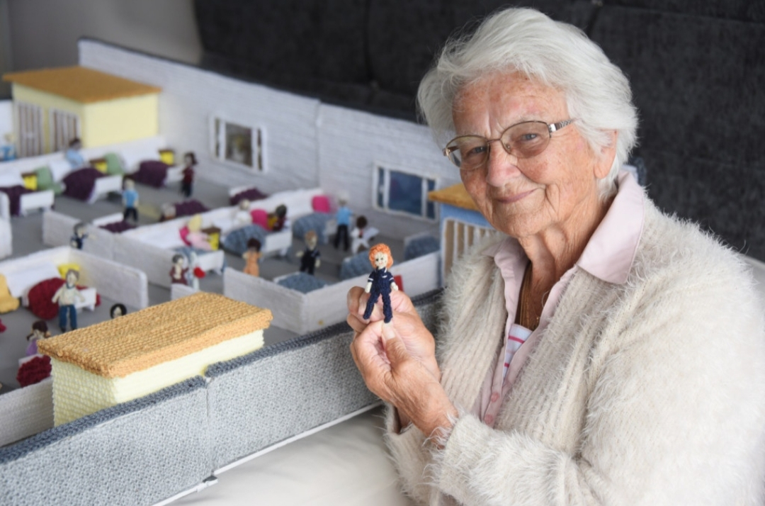 A Way To Raise Funds: 'Knittingale Hospital' Knitted By A 91-Year-Old Women.