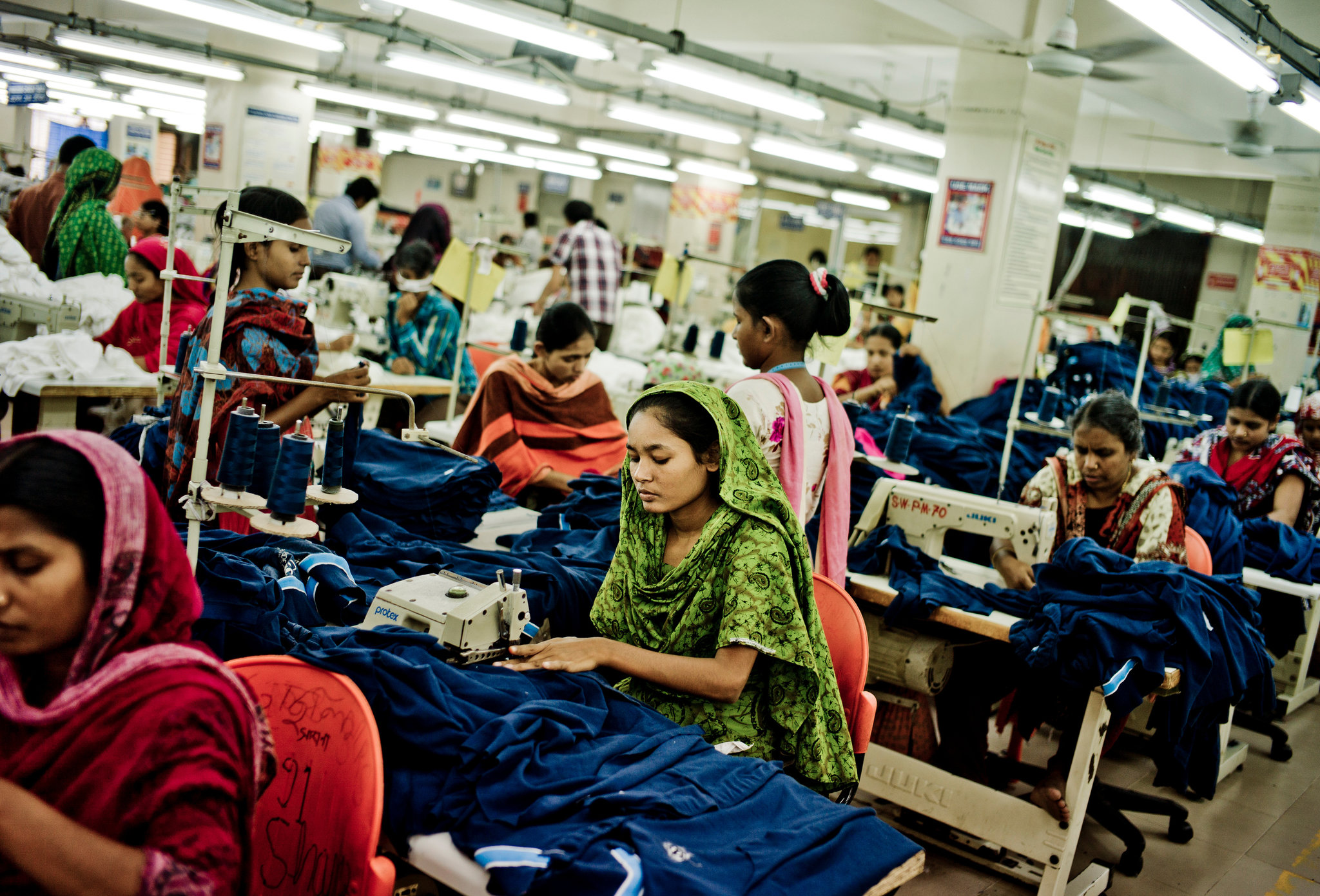 The huge decline in textile sales is reported