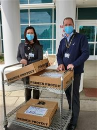 INEOS Styrolution sends 650 face shields to frontline workers in hard-hit areas across the US and donates $10,000 to local food banks for COVID-19 relief efforts
