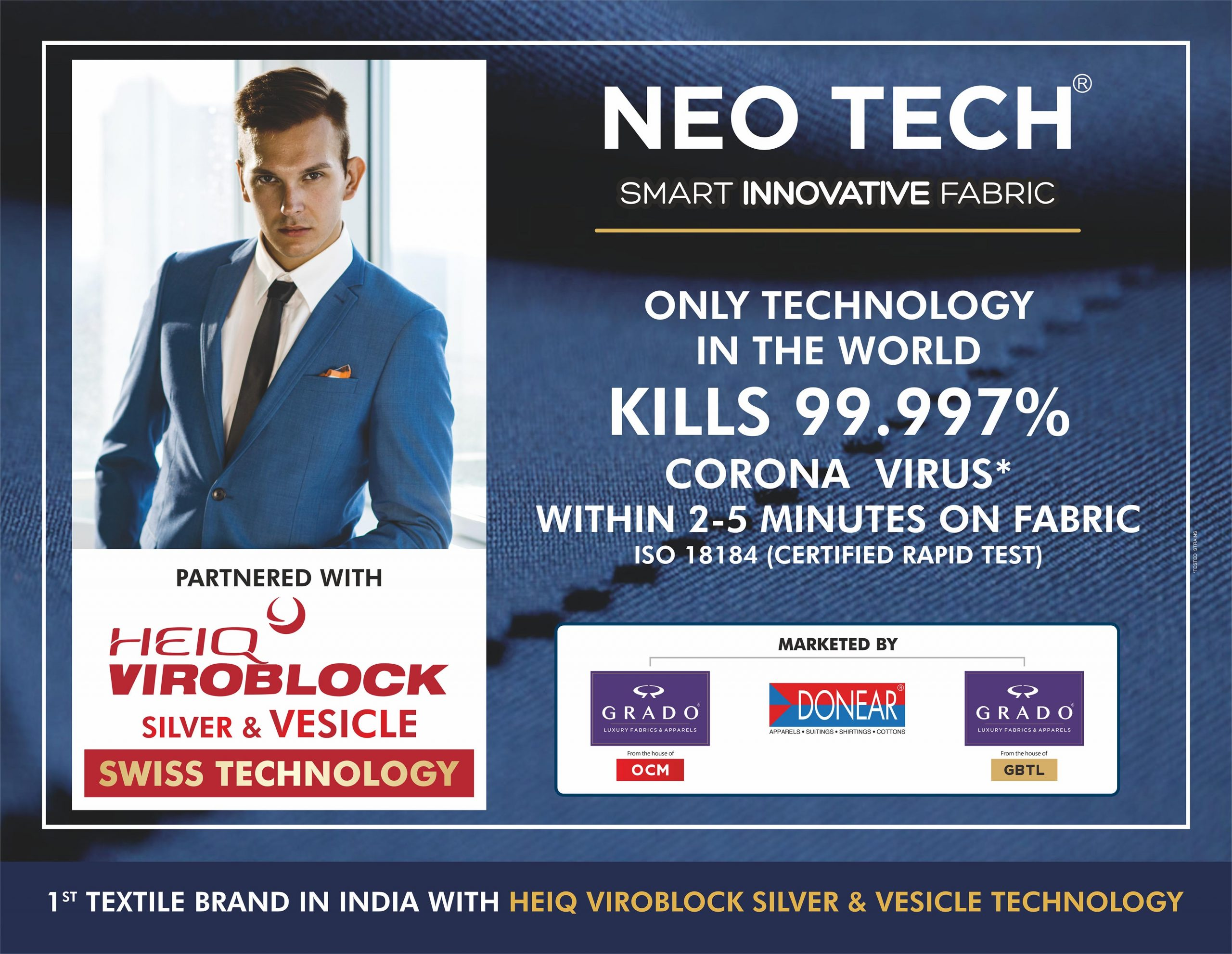 TEXTILE INNOVATION EXPERT, DONEAR GROUP COLLABORATES WITH INDIA'S LEADING CLOTHING BRAND ZODIAC
