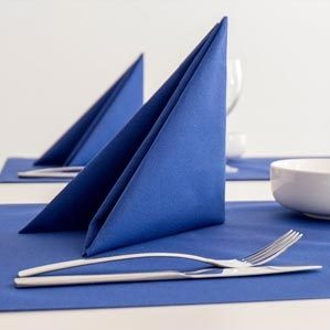 Use of nonwovens in tissues and napkins