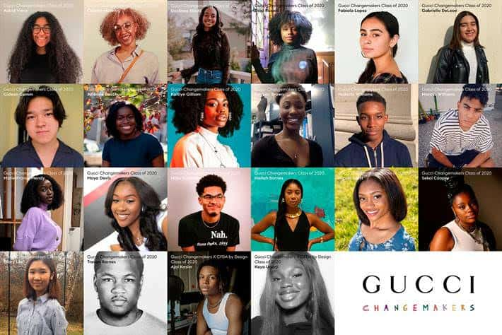 GUCCI REVEALS 2020 CLASS OF CHANGEMAKERS SCHOLARSHIPS