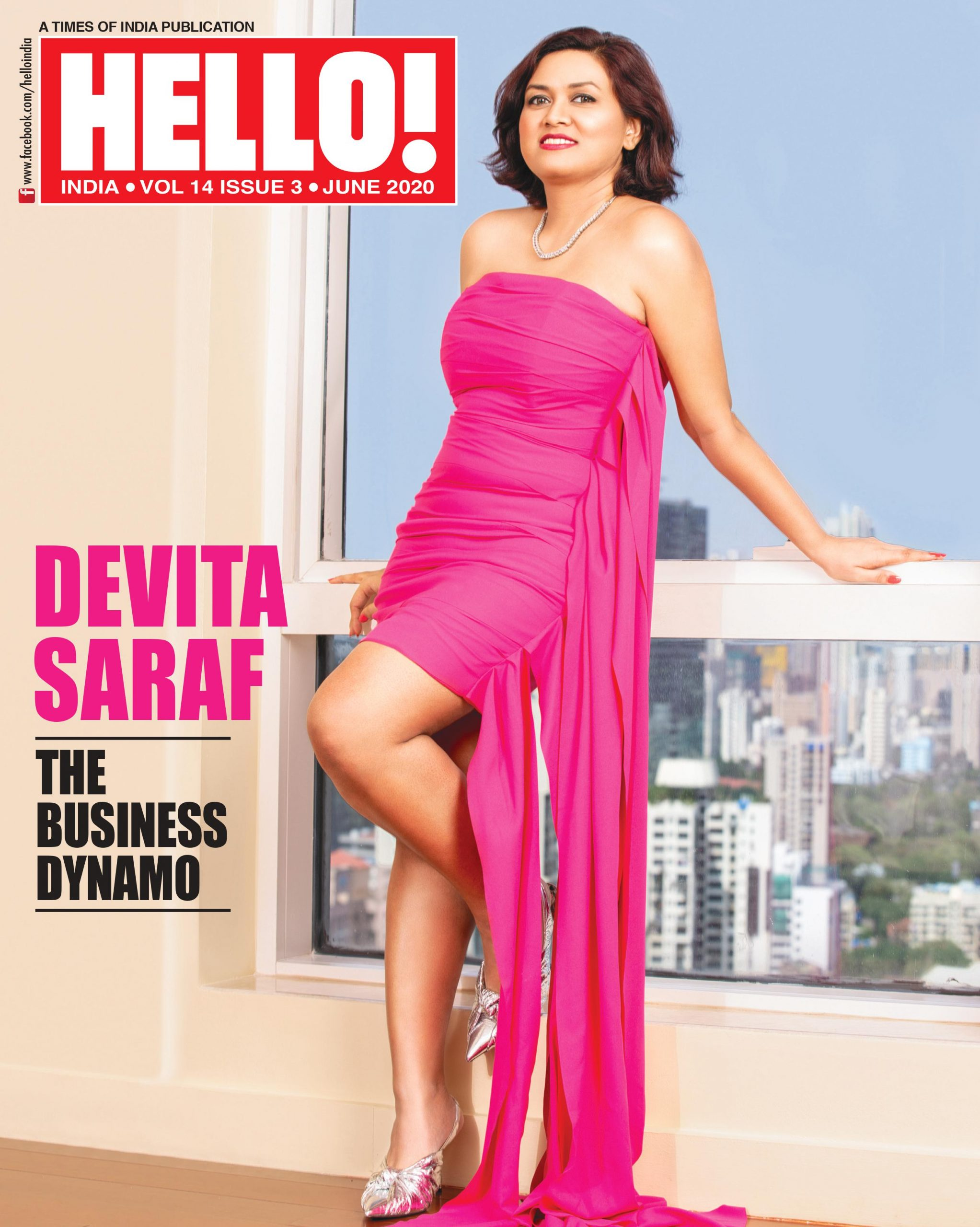Devita Saraf is the cover girl for 'HELLO' Magazine June 2020 Issue