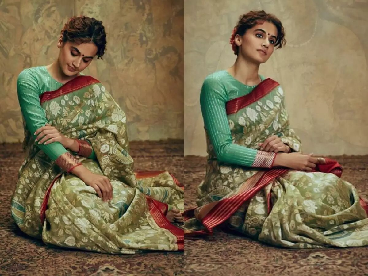 Taapsee Pannu top notch elegant in a hand loom sari like a Raja Ravi Varma painting in her latest photoshoot