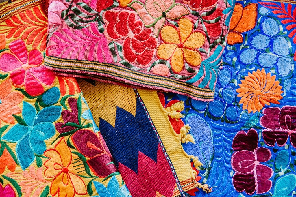 TEXTILES, EMBROIDERIES AND COSTUMES OF MEXICO