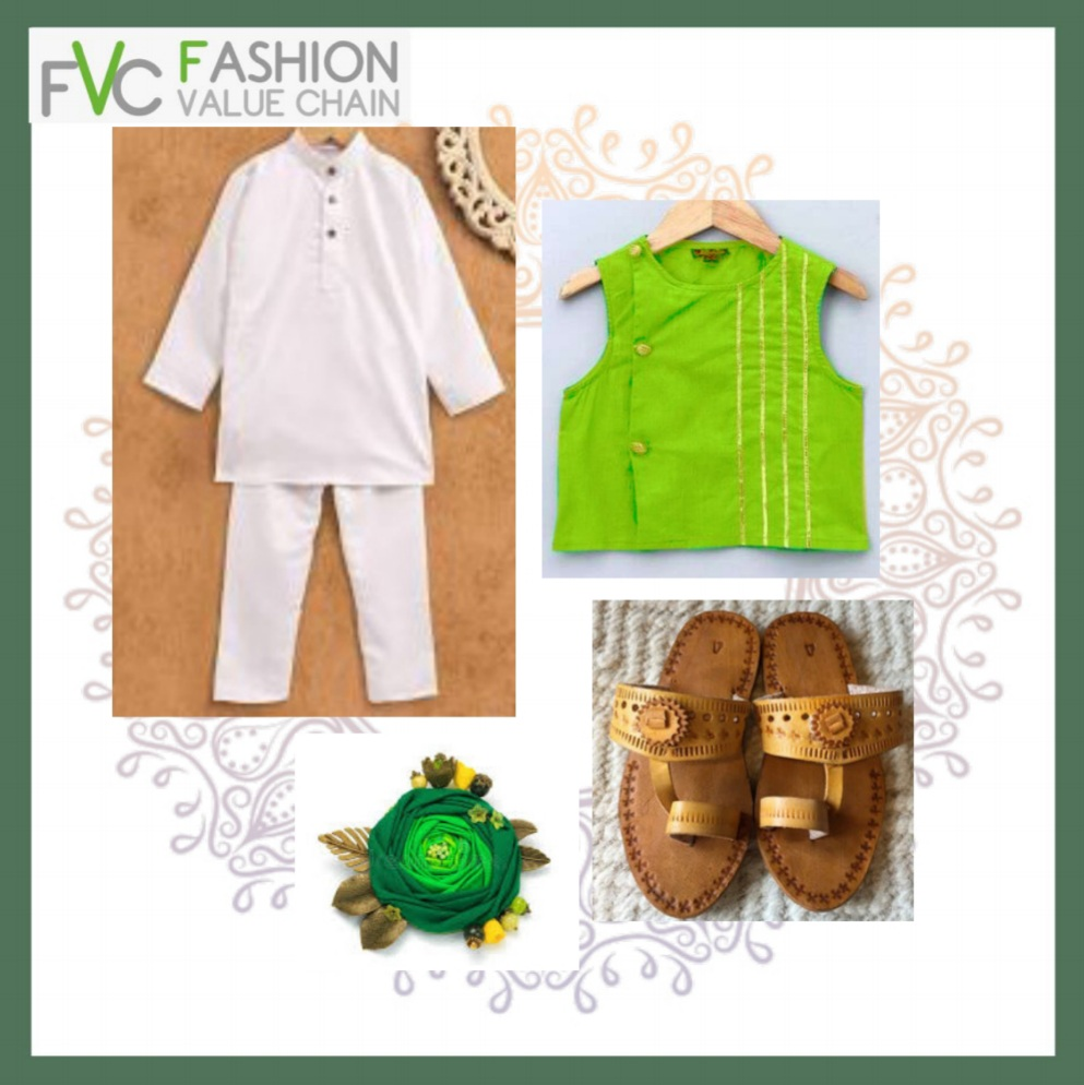 Lime green in boys traditional  look