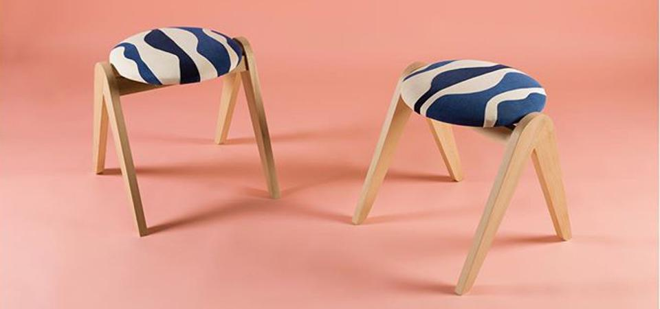 French Designer makes abstract Textile Design for furnitures