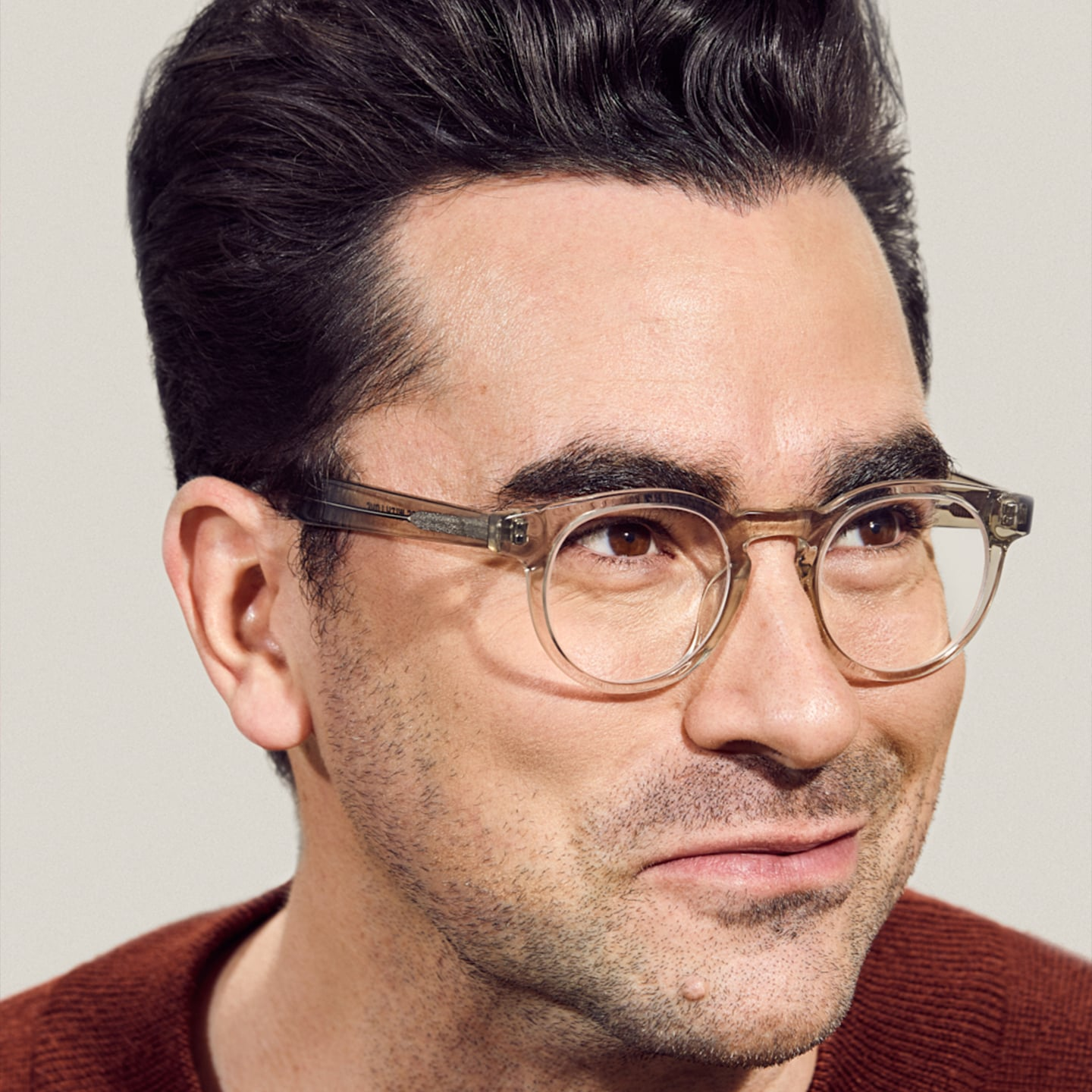Dan Levy relaunching his eyewear line with an incredible Tie-in