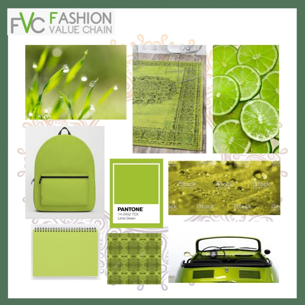 LIME GREEN COLOUR (moodboard)