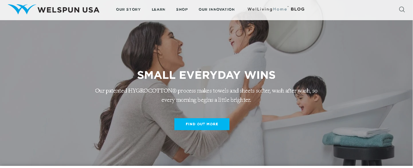 Welspun USA- new web site launch; Learn, shop and engage consumer!