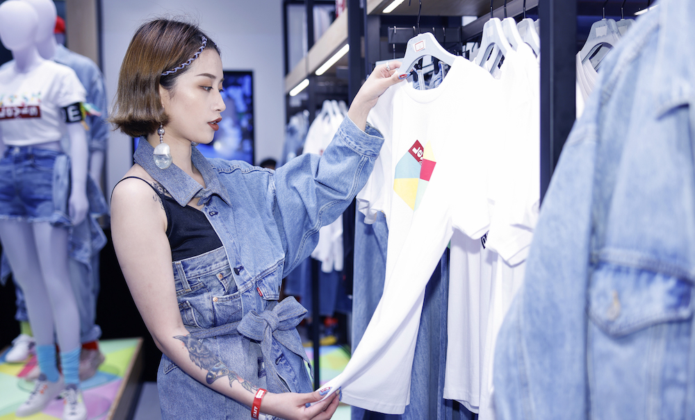 Levi's Opens Experiential Store in Shanghai Complete with a 'Denim Forest'- By Liz Warren