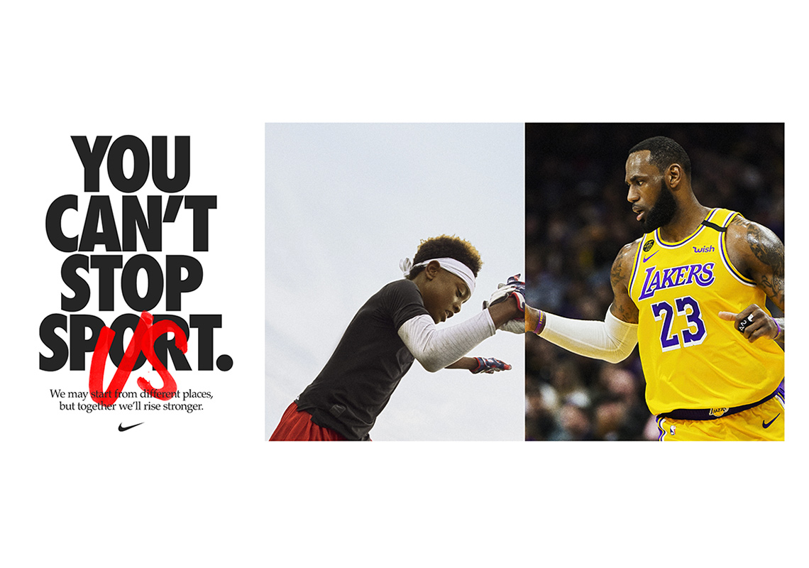 """""""YOU CAN'T STOP SPORT, BECAUSE YOU CAN'T STOP US"""" Nike latest Ad"""