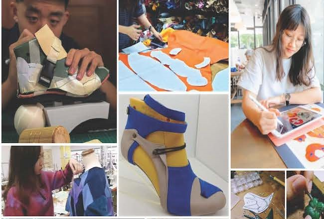 Students complete samples for 'Real Leather. Stay Different.' competition