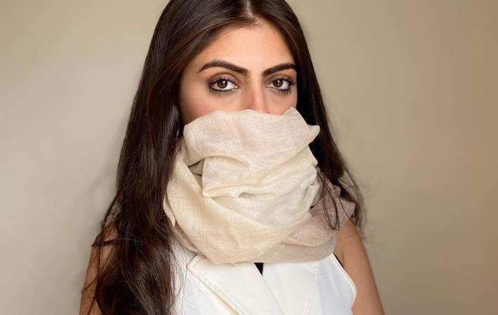 Polygiene treats cashmere scarves from EZMA with Viraloff