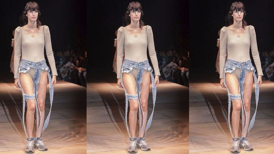 THONG JEANS: A DESIGNER JUST DEBUTED DENIM THAT EXPOSES YOUR ENTIRE BUM