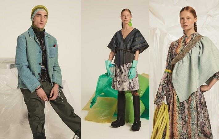 Stoll machines knit new trends from waste materials