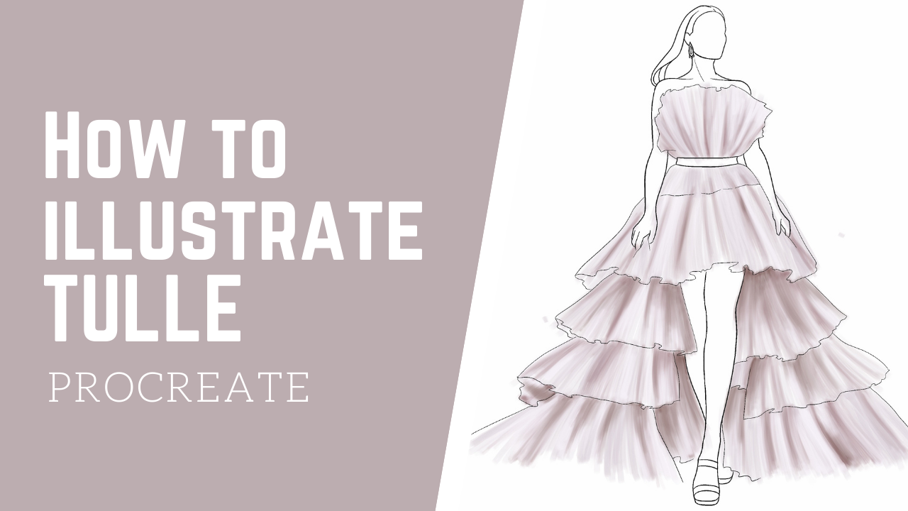 VIDEO: How To Illustrate Tulle