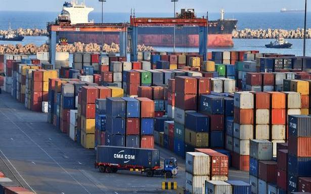 Exports plunge 8.7%, trade deficit narrows in November.