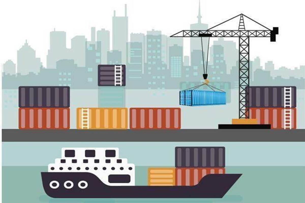 Exports rise 1st time since Sept, imports increase 8%.