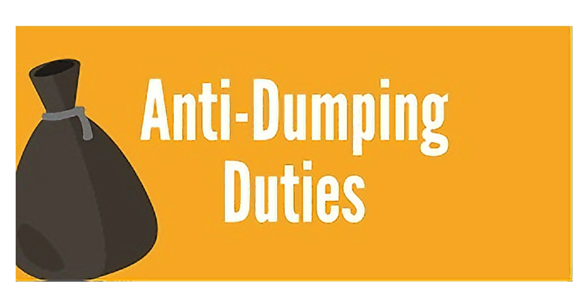 Hardly any finished goods incur anti-dumping duties.