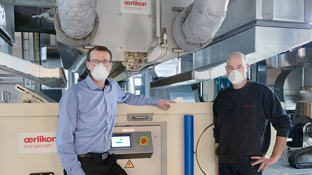 Wolf PVG trusts in meltblown technology from Oerlikon Nonwoven.