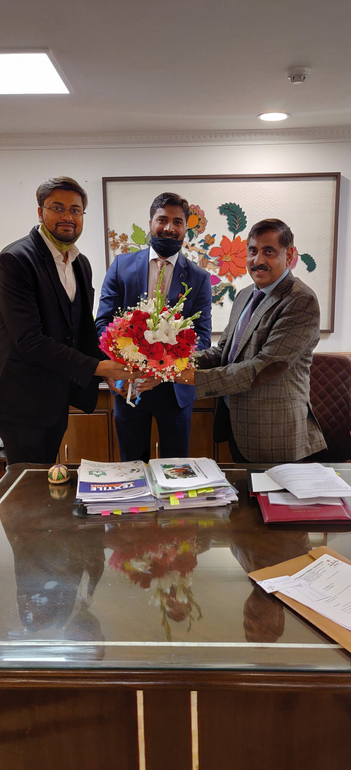 HEWA delegation met with Textile Secretary Shri Upendra Prasad Singh and Request for early declaration of RoDTEP rates.