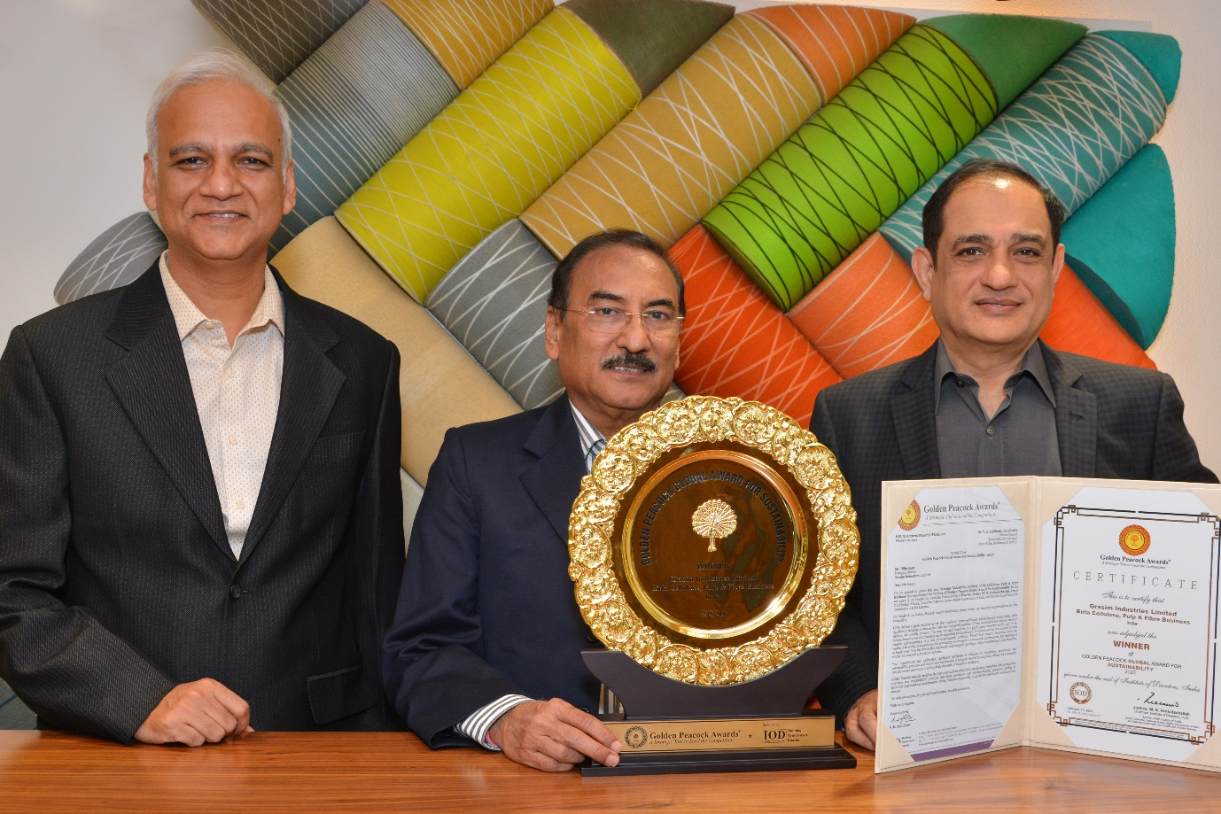 Grasim Industries Limited, Birla Cellulose, Pulp & Fibre Business Wins Golden Peacock Global Award for Sustainability 2020