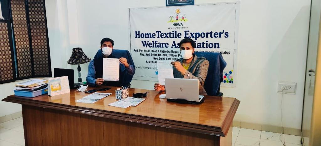HEWA seeks Hon'ble PM 's Intervention for continuation of (WTO Compliant) RoSCTL scheme till RoDTEP rate notification for achieving targeted goals of employment generation.