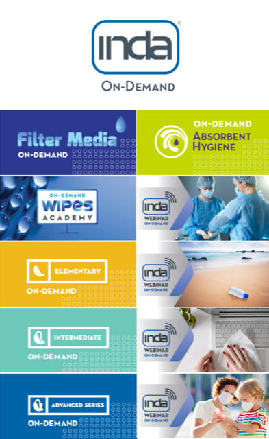 """INDA Launches """"On-Demand"""" Nonwoven Training and Key Issue Webinars."""