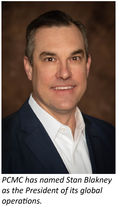 PCMC names Stan Blakney as President of global operations