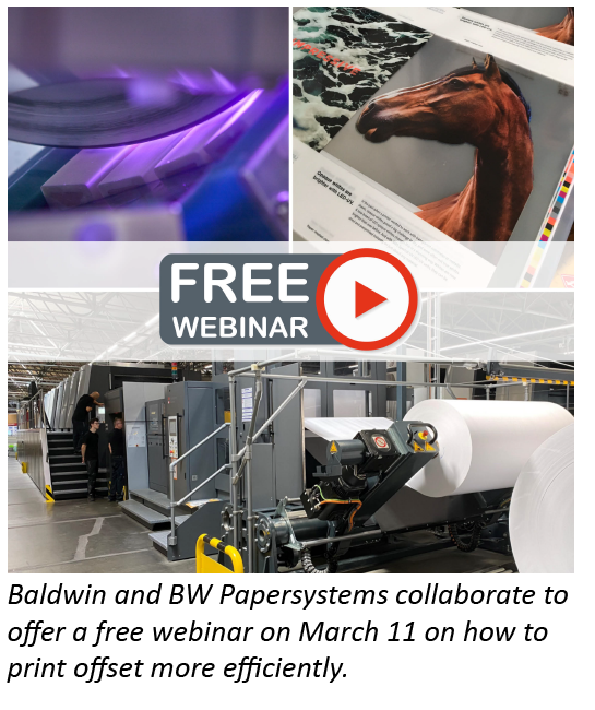 Baldwin and BW Papersystems present free webinar on how to print offset more efficiently