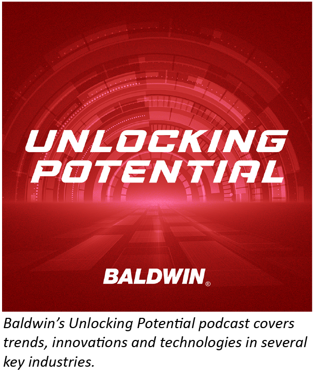 Baldwin's new Unlocking Potential podcast explores printing and industrial process automation trends