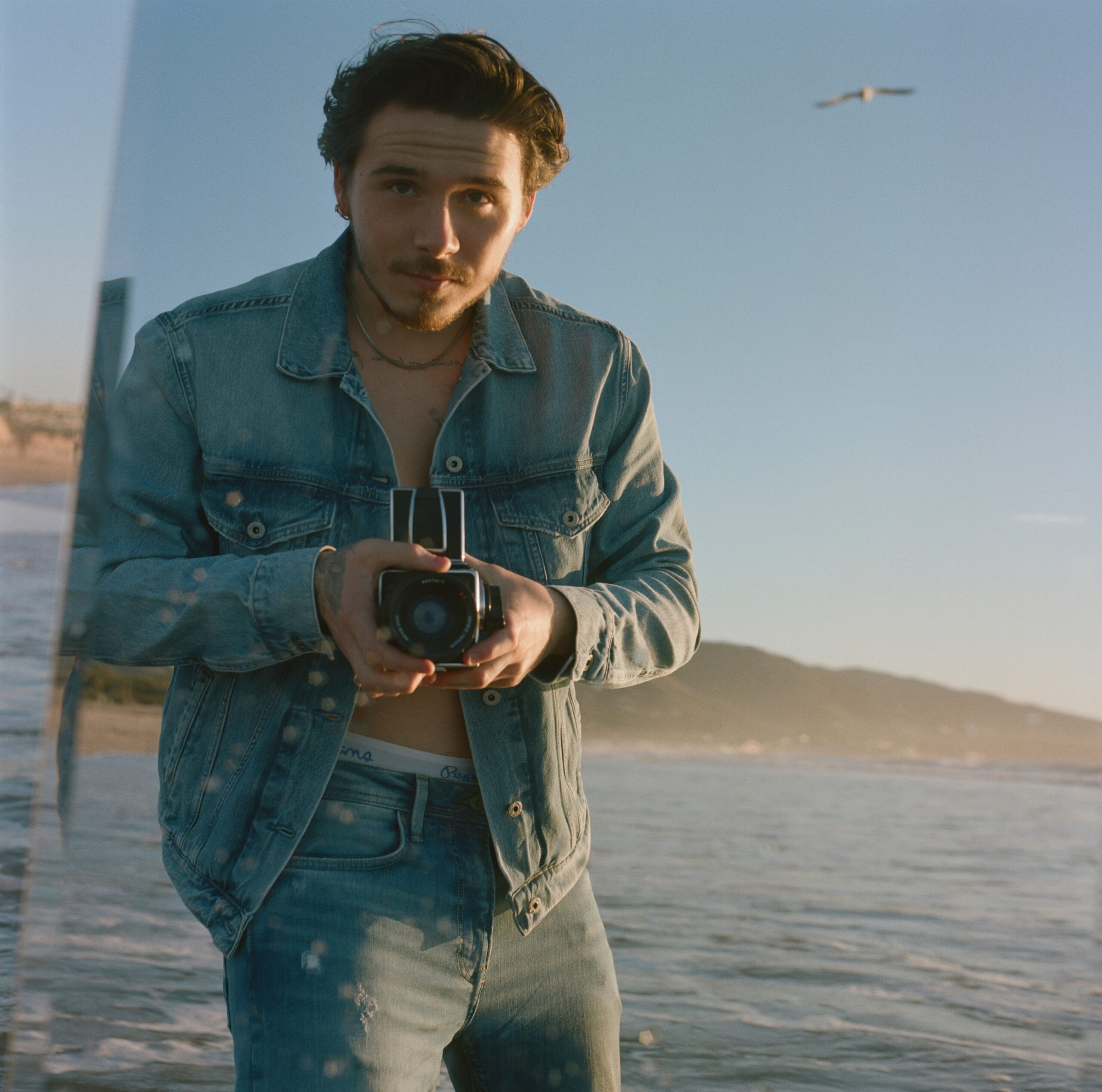 PEPE Jeans London unveils The First Chapter Of Its Collaboration With British Photographer Brooklyn Beckham.