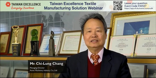Textile Sector has immense opportunity in India; Experts from Taiwan addressed in a webinar organized by TAITRA