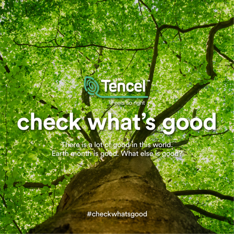Lenzing announces TENCEL™ #checkwhatsgood campaign to celebrate Earth Day 2021