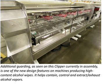 PCMC adds virus-killing wet wipes machines Rx200 and Mako Clipper to nonwovens lineup
