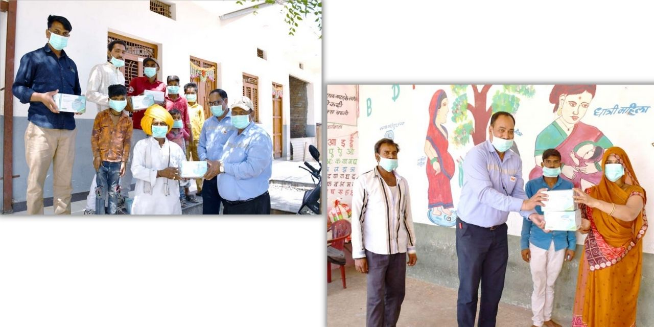 Grasim Industries and Nanliu Enterprise Co. Ltd, Taiwan  collaborate to donate 50,000 masks in Nagda, MP